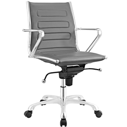 Modern Gray Leather Conference Chair