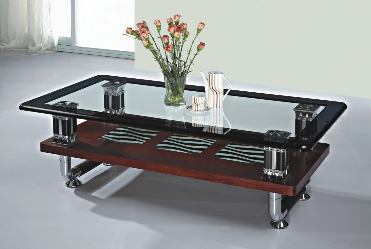 Glass Center Table Living Room Home Cheap Solution