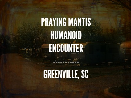 Praying Mantis Humanoid Encounter - Greenville, SC