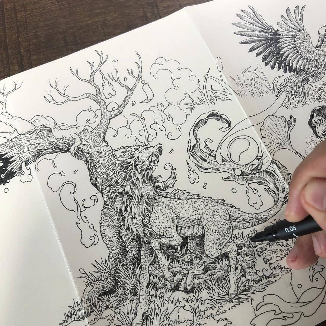 15-Kirin-Kerby-Rosanes-Free-Hand-Detailing-and-Doodling-www-designstack-co
