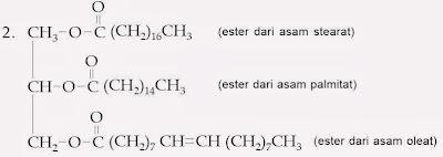 terbentuk dari gabungan tiga molekul asam lemak dengan satu molekul gliserol Tata Nama Lemak, Aturan Penamaan, Contoh, Kimia