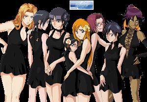 Bleach: Rukia, Orihime, Tatsuki, Rangiku, Yoruichi, Nemu, Nanao y Chizuru Render 1