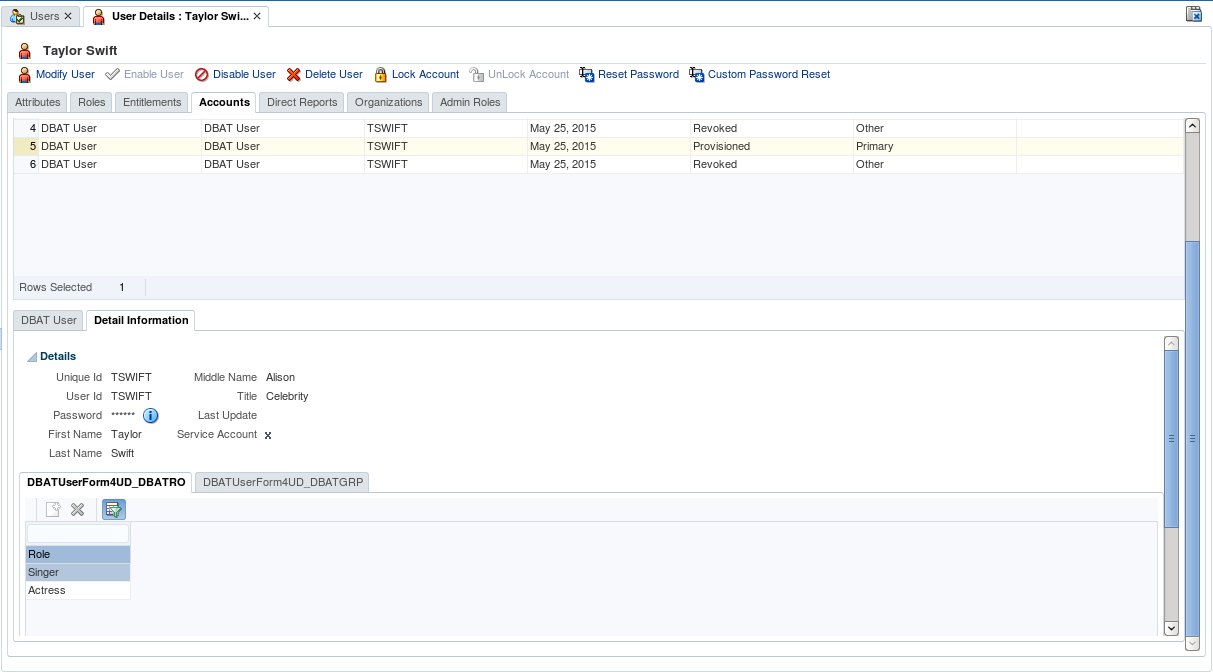 Oracle Stack: OIM API: Provisioning Resource Account to User