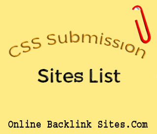 CSS Submission Sites List With High Page Rank