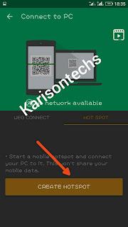 xender create hotspot