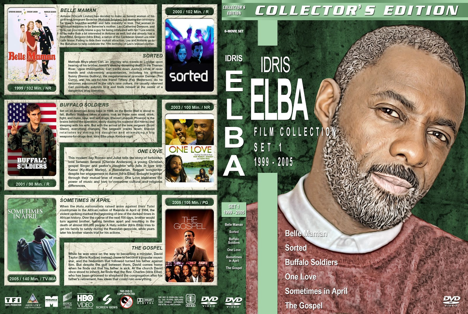 Idris Elba Filmography Set 1-7 [Thin Spine] DVD Cover