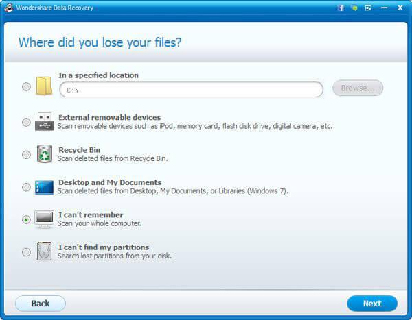 Wondershare Data Recovery - Files