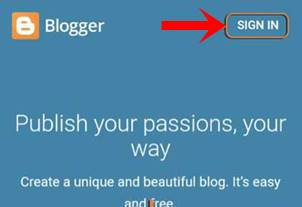 sign in blogger account,Free Me Website Kaise Banaye