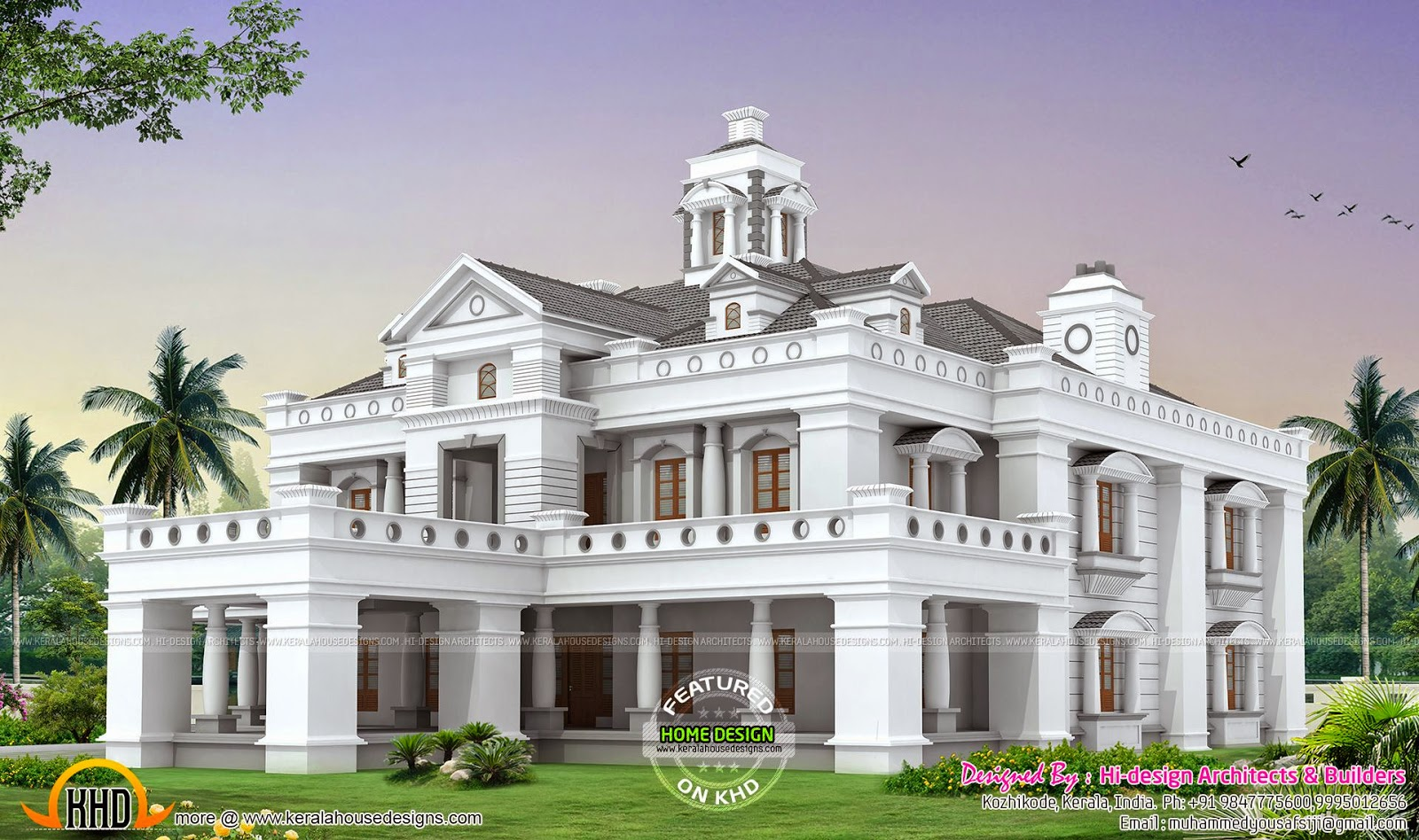 Mansion in kerala kerala home design and floor plans for Mansion house design