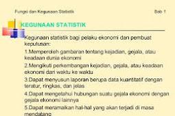 Pengertian dan Kegunaan Statistik