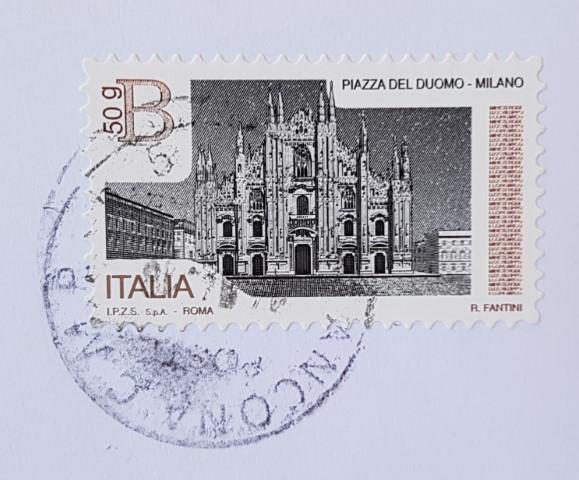 francobollo Piazza del Duomo Milano