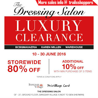 The Dressing Salon Luxury Clearance Sale 2016