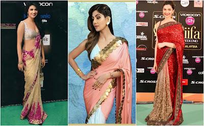 priyanka chopra in perfect saree draping, shilpa shetty perfect saree style, deepika padukone in perfect saree, how to wear saree perfectly, saree draping in perfect style, easy style trick to wear saree, saree draping tricks,