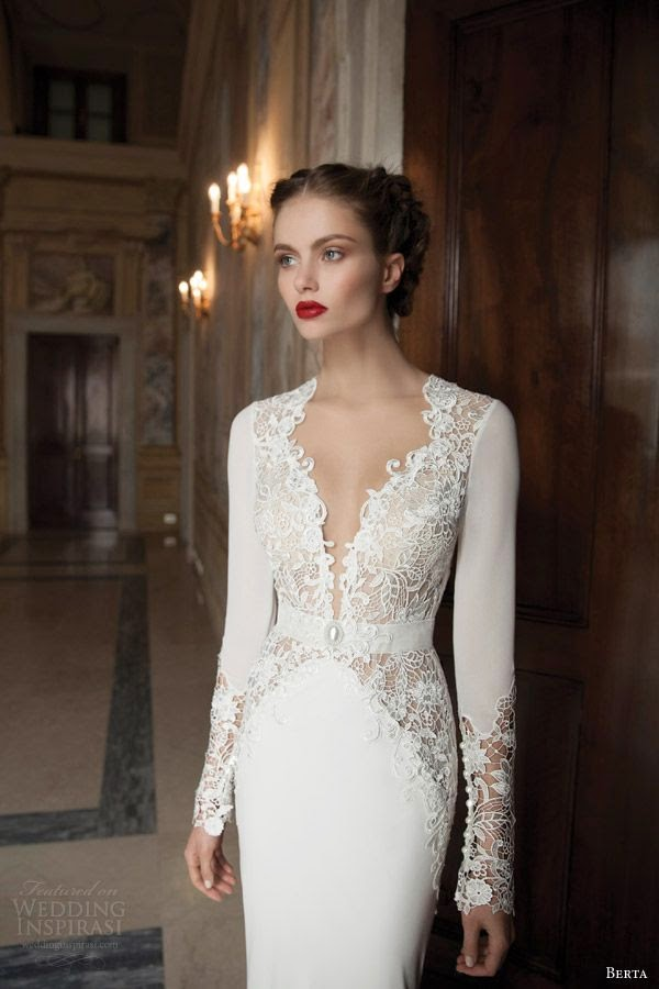 Berta Bridal Winter Long Sleeve Wedding Dresses