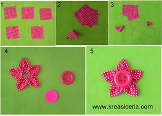 Tutorial 2 bross cantik DIY dari bahan kain perca