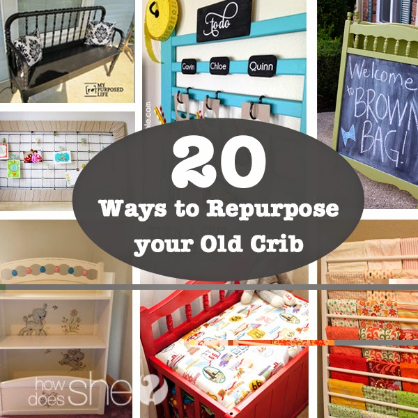 20 Ways to Repurpose your old Crib