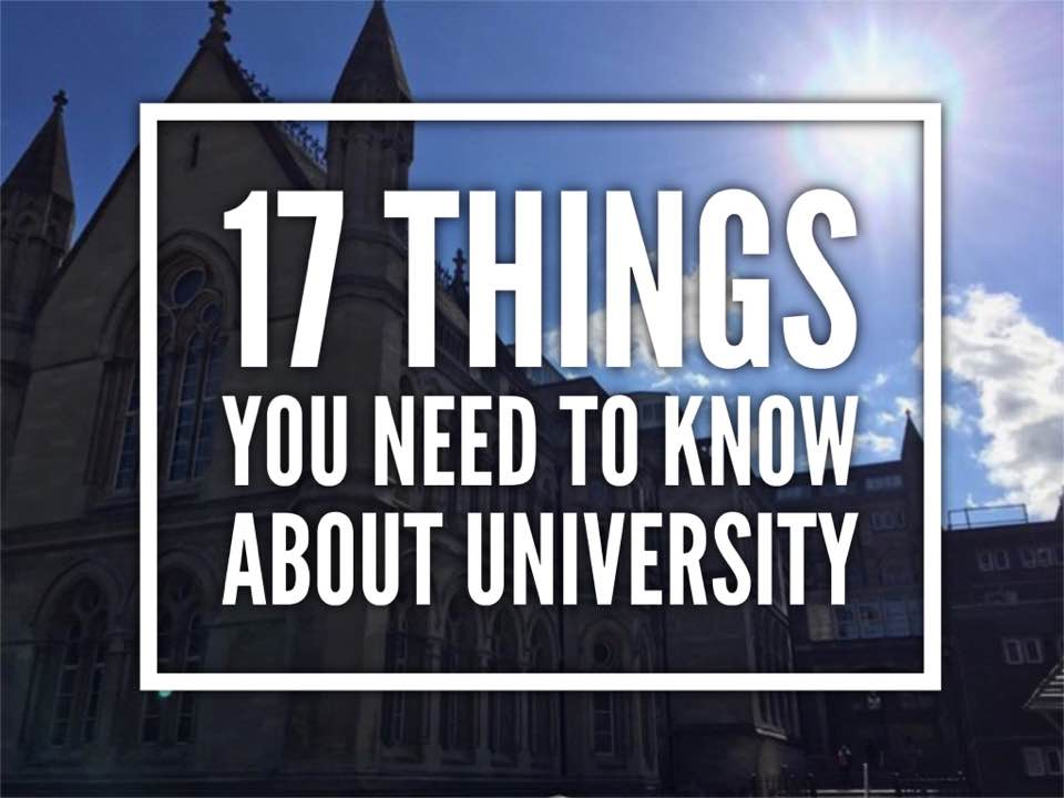 17 things you need to know about university