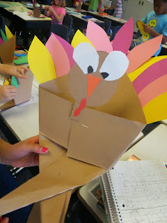 "If you're looking for a free Thanksgiving art project for your 2nd or 3rd grade class, try origami turkeys. All you need is paper! These little guys are a perfect ""go to"" activity for the week before Thanksgiving. Easy for teachers and fun for kids! #secondgrade #thirdgrade #thanksgiving"