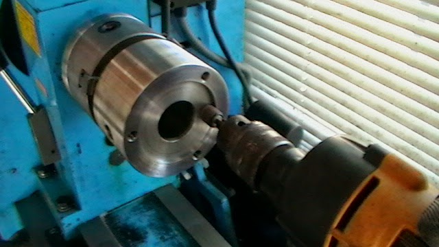 using small sanding wheel in drill like I.D. grinder