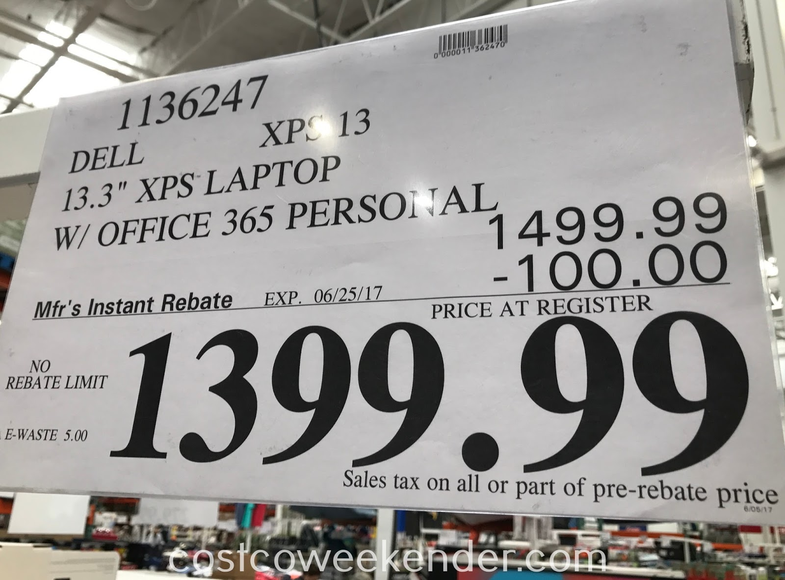 Deal for the Dell XPS 13 Laptop with Office 365 Personal at Costco