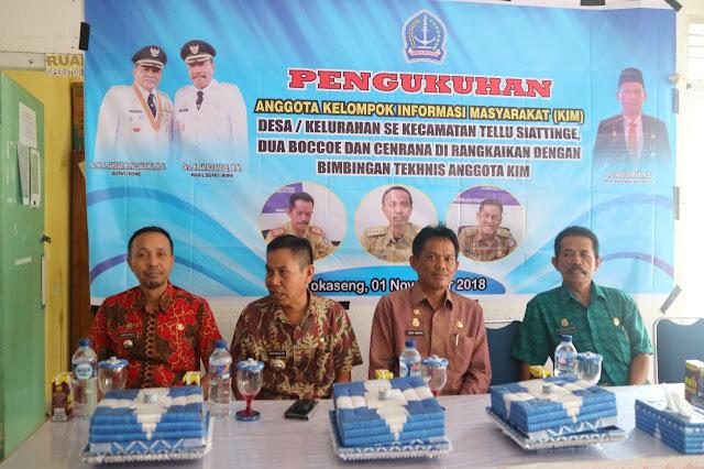 Wujudkan Agen Informasi Handal di Kecamatan dan Desa, Diskominfo dan Persandian Bone Kukuhkan KIM