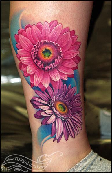 Daisy Tattoos For Men: Tattooz Designs: Flower Tattoo Designs