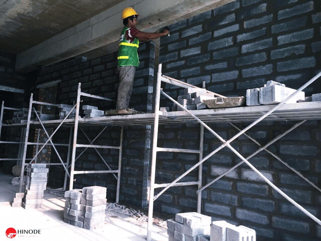 Bên trong công trường xây dựng dự án Hinode City Minh Khai