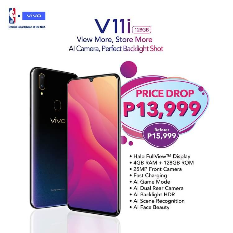 Vivo V11i Gets a Price Drop