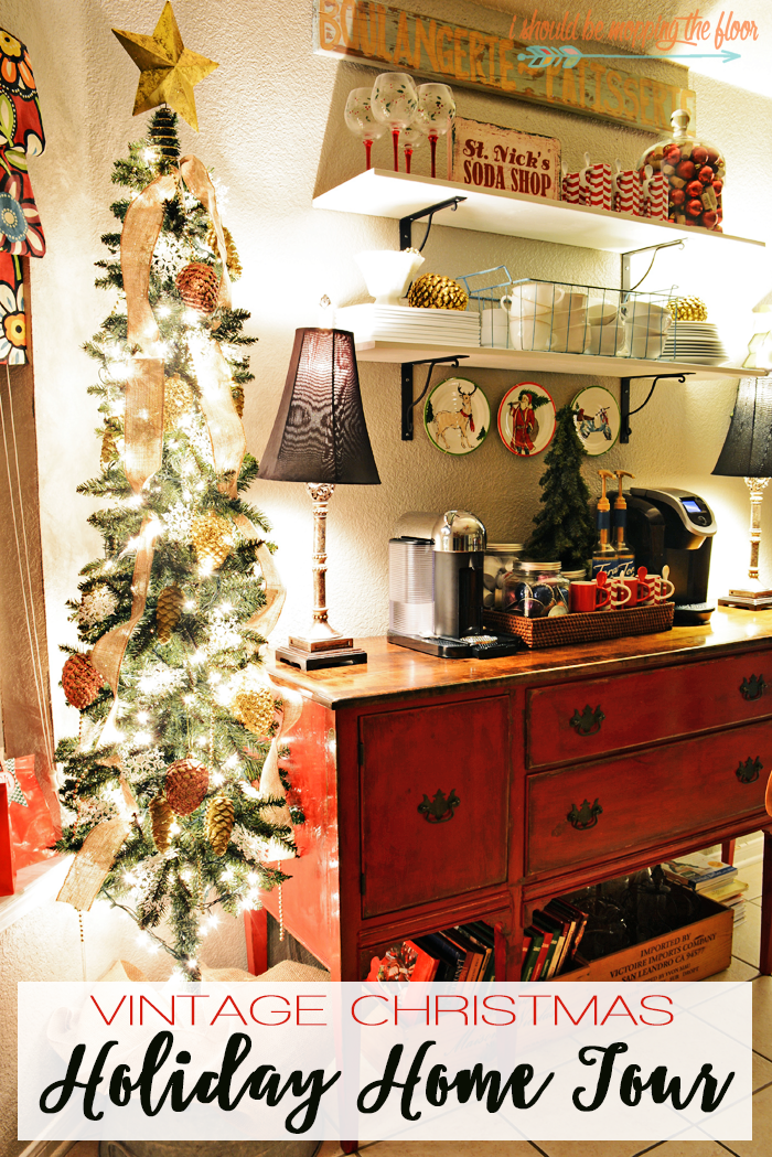 Fun and eclectic Christmas home tour with loads of vintage charm.