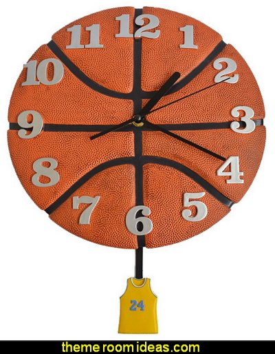 Wall Clock Basketball Style Decorative