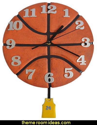 Wall Clock Basketball Style Decorative