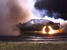 car tyres burning