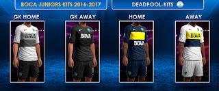 PES 2013 Boca Juniors Kits Oficial 2016-17 by DEADPOOL-Kits