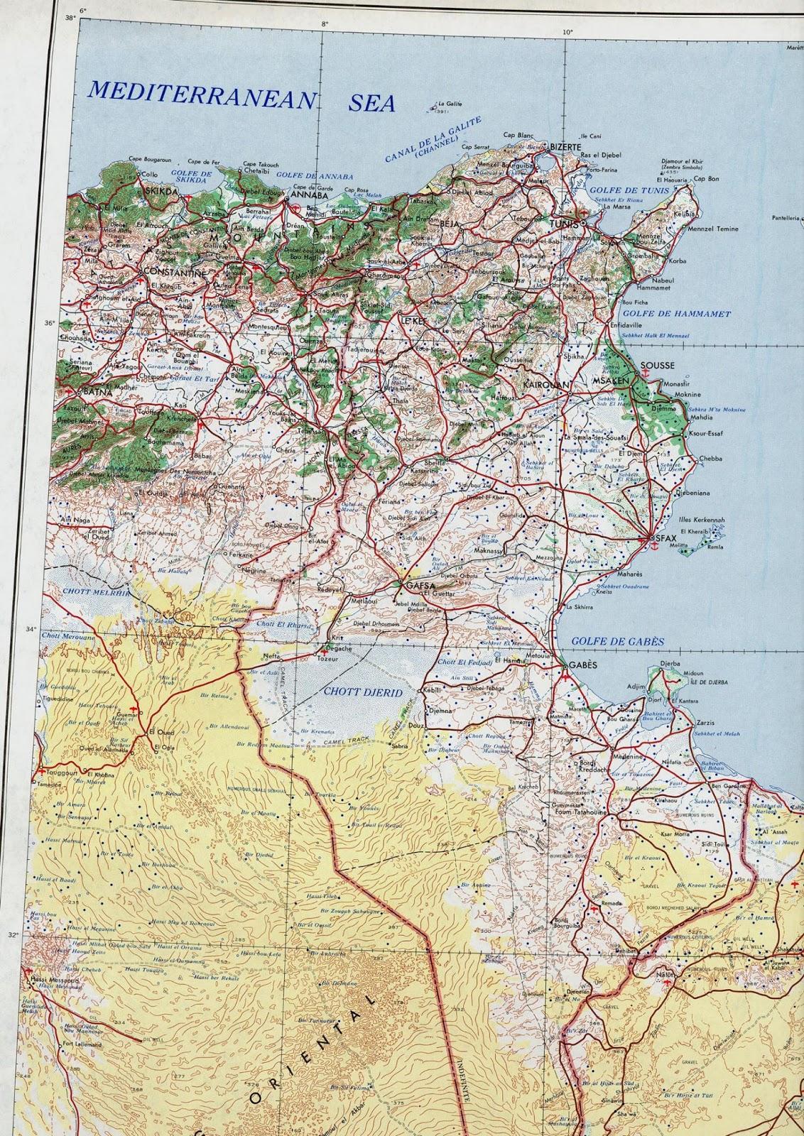 Mapas Geográficos da Tunísia