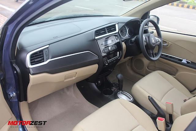 2016 Honda Amaze Interior