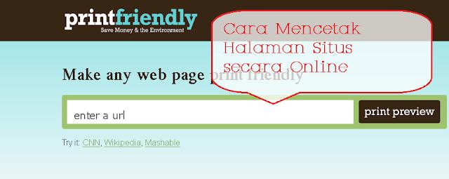 Cara Mencetak Halaman Web
