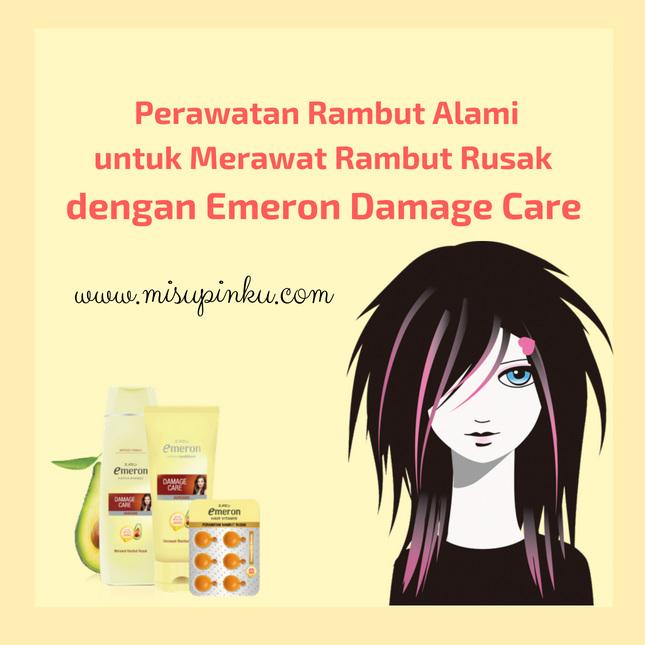 perawatan rambut alami untuk merawat rambut rusak dengan emeron damage care