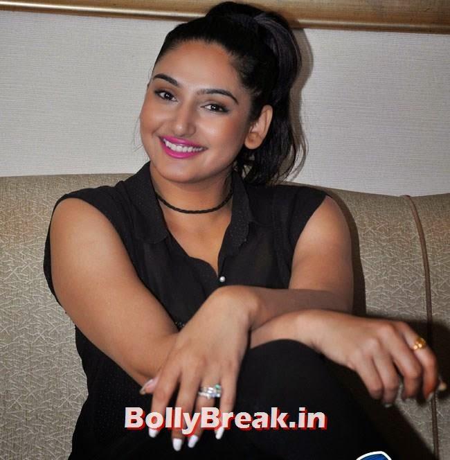 Ragini Dwivedi Hot Pics In Black Transparent Top For Movie