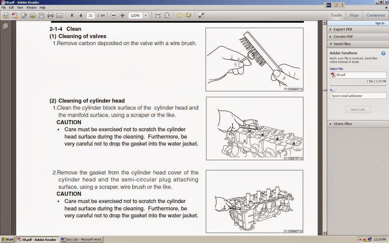 KP Gasket: Daihatsu JBJL and JBDET Engine Cylinder Head Gasket removal