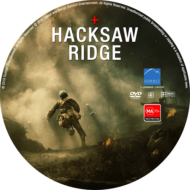 Hacksaw Ridge DVD Label
