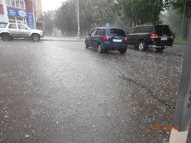 Дождь с градом