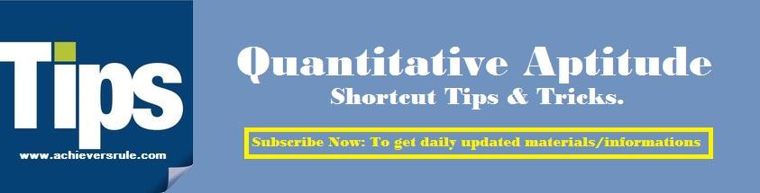quantitative aptitude shortcut methods pdf tricks to solve download
