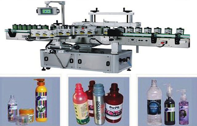 automatic round bottle labeling machine Machine d'étiquetage automatique bouteille