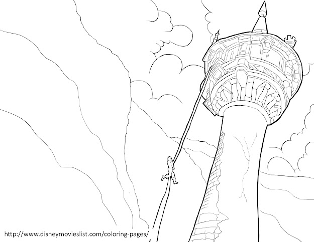 Printable Disney Coloring Page Sheet Titled Maximus Wresltes With Flynn