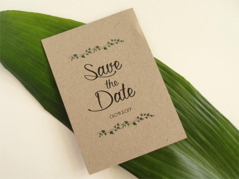 DIY-Hochzeit: Save-the-Date Karten DIY Braut Hochzeitspapeterie