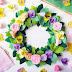 My Handmade Felt Spring Flower Wreaths