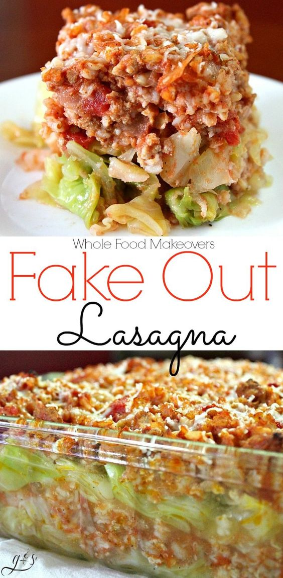 Whole Food Makeovers: Fake Out Lasagna