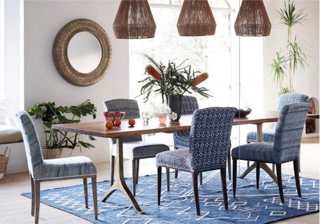 Beautiful modern farmhouse dining room at Patina Farm...decor inspiration on Hello Lovely Studio