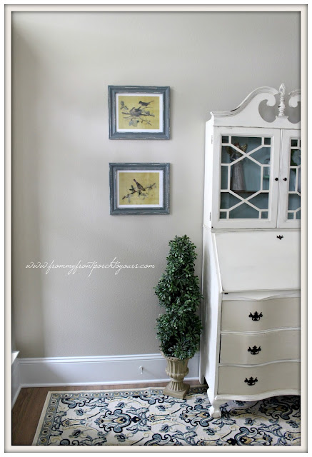 Farmhouse Foyer- Farmhouse Decor-Vintage Secretary-From My Front Porch To Yours