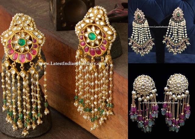 Kundan Chandelier Earrings